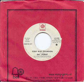 PYE 65008 Promo - UK 1972 A: Cold Blue Excursion B: I Need It