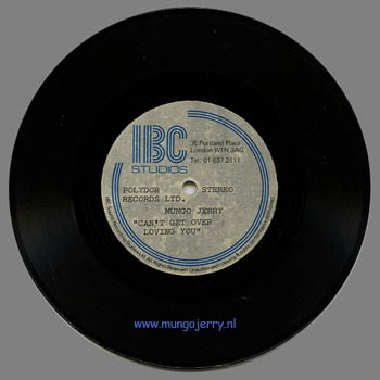 Can't Get Over Loving You - Advanced Promotion Acetate